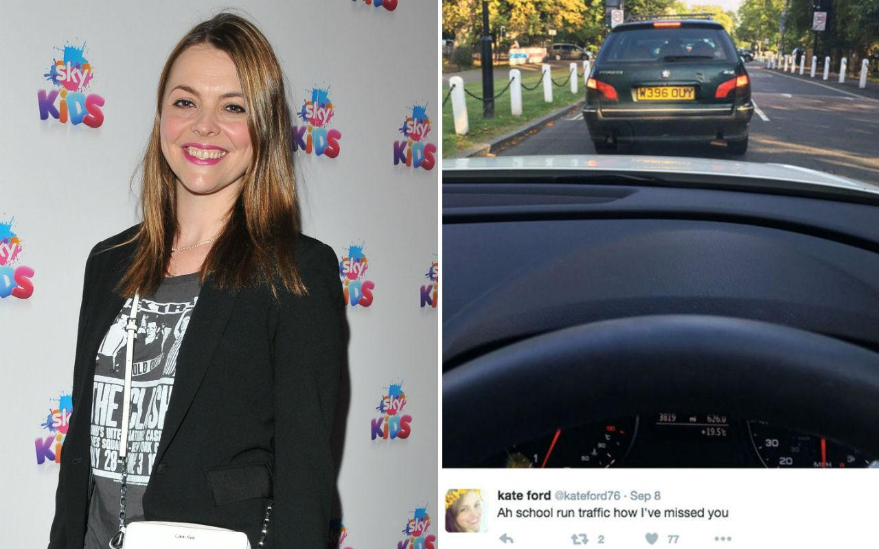 <p>The Corrie star got a hefty slap around the wrists for taking this snap of heavy traffic while on the school run. Despite her car being stationary, it's actually highly illegal. But you knew that, right? </p>