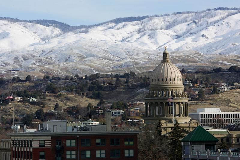 A view of the Idaho State Capitol in Boise.