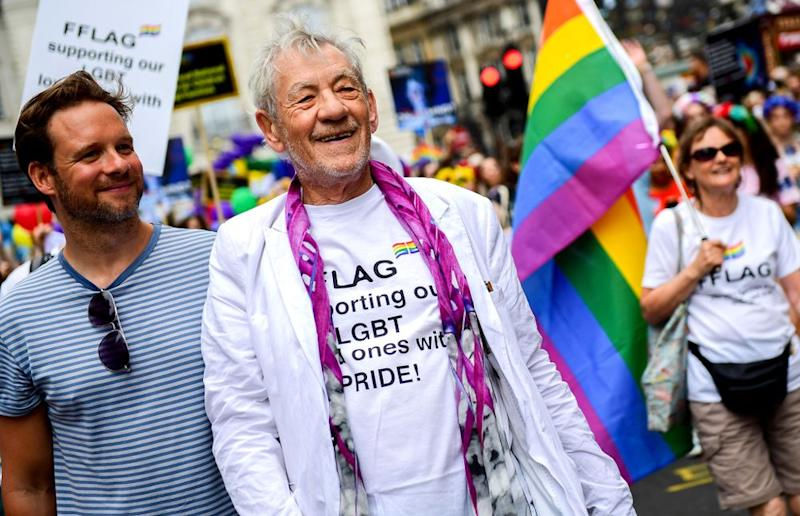 The actor took to the streets to celebrate Pride in London in July 2019 | Chris J Ratcliffe/Getty Images for Pride in London