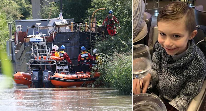 A body has been found in the search for Lucas Dobson who was swept away by the River Stour on a fishing trip on Saturday