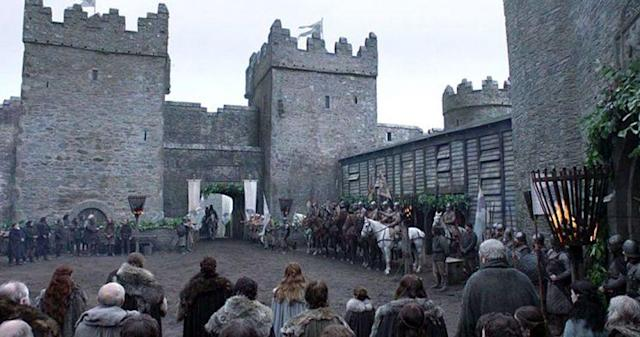 A scene from 'Game of Thrones' of Winterfell (Credit: HBO)