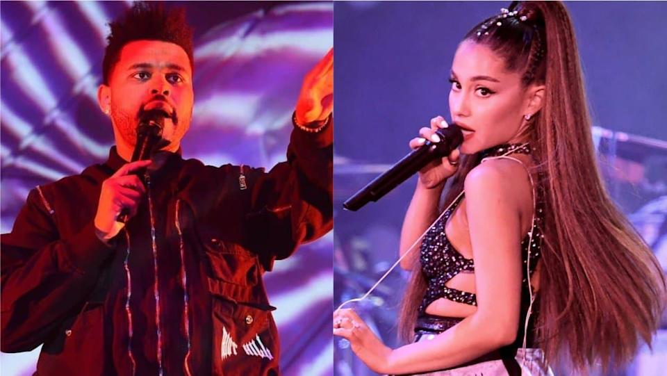 The Weeknd et Ariana Grande - Kevin Winter - Getty Images North America - AFP