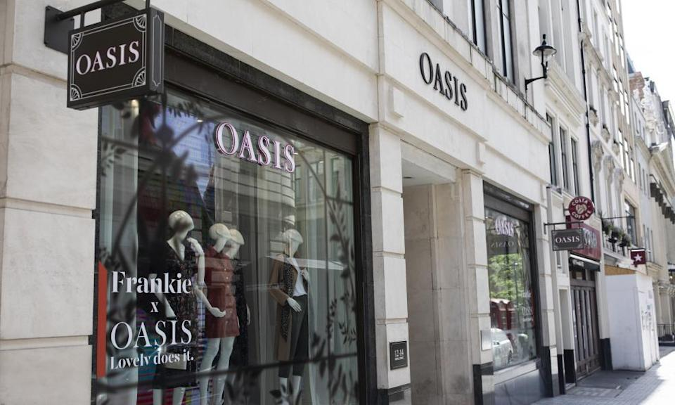 An Oasis store just off Oxford Street