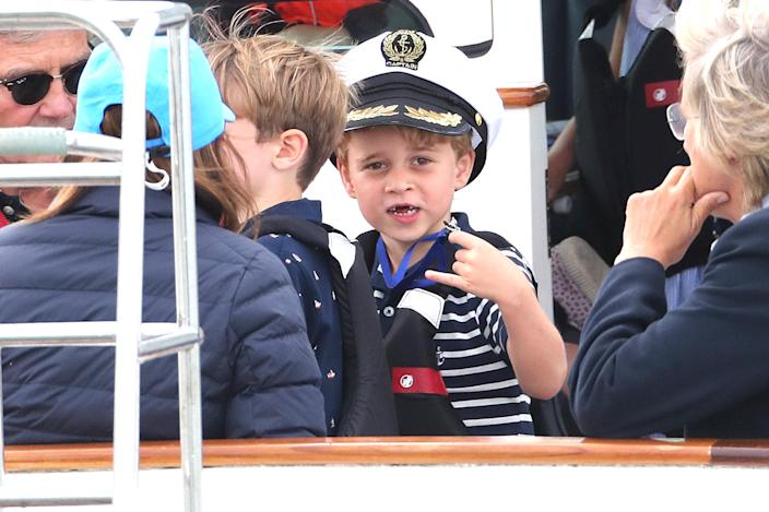 Prince George at the King's Cup regatta hosted by the Duke and Duchess of Cambridge in Cowes in 2019. (Getty Images)