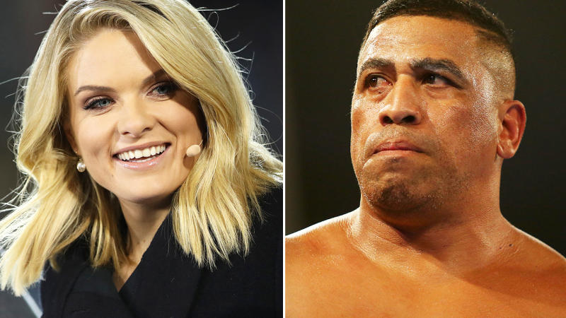 Erin Molan and John Hopoate, pictured here in 2019.