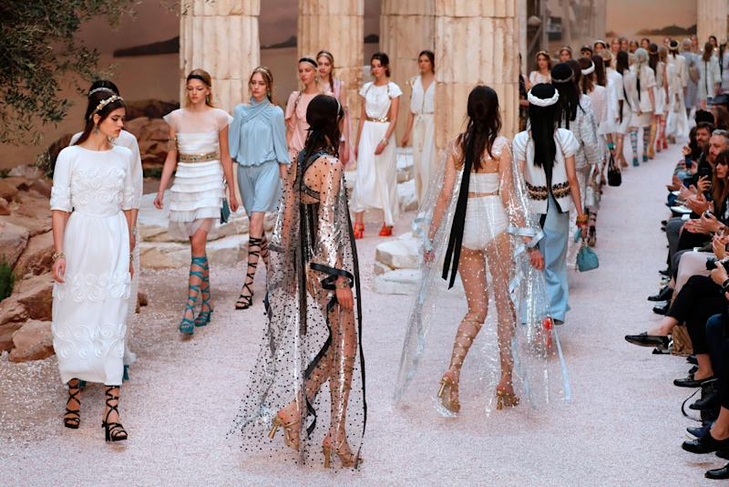 Karl Lagerfeld Re-Created Ancient Greece in Paris for Chanel Cruise