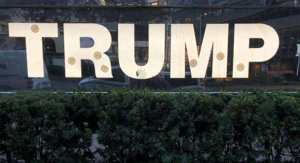 PHOTO: A sign at Trump International Hotel in New York City with 'I voted' stickers the morning after the midterm election, Nov. 7, 2018. (Tom Liddy/ABC News)