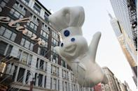 "<p>The Pillsbury Doughboy first appeared in ads in 1965. His name at the time, ""Poppin' Fresh,"" was inspired by the sound the vacuum-sealed biscuit containers make when you open them. Refrigerated crescent rolls also first hit shelves in '65, changing holiday bread baskets forever.</p>"
