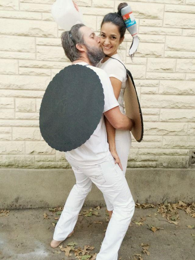 """<p>He's your other half, so why not show it this Halloween with this sweet, simple costume sure to keep your cookie from crumbling?</p><p><strong>Get the tutorial at <a href=""""https://www.creatingreallyawesomefunthings.com/diy-oreo-couples-costume/"""" rel=""""nofollow noopener"""" target=""""_blank"""" data-ylk=""""slk:C.R.A.F.T."""" class=""""link rapid-noclick-resp"""">C.R.A.F.T.</a></strong></p><p><a class=""""link rapid-noclick-resp"""" href=""""https://go.redirectingat.com?id=74968X1596630&url=https%3A%2F%2Fwww.walmart.com%2Fip%2FWestcott-Hot-Power-Glue-Gun%2F665132372&sref=https%3A%2F%2Fwww.countryliving.com%2Fdiy-crafts%2Fg4616%2Fdiy-halloween-costumes-for-couples%2F"""" rel=""""nofollow noopener"""" target=""""_blank"""" data-ylk=""""slk:SHOP HOT GLUE GUNS"""">SHOP HOT GLUE GUNS</a></p>"""