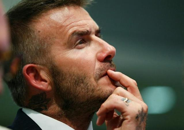 David Beckham's Inter Miami MLS team will make their home debut against the superstar's former club Los Angeles Galaxy (AFP Photo/RHONA WISE)