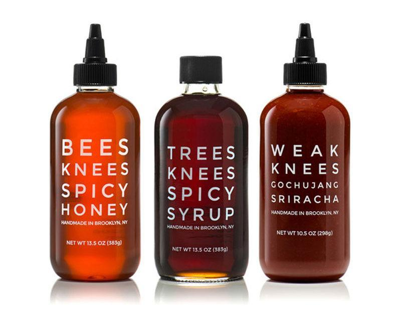 """<p>This trio of sauces is guaranteed to heat up the kitchen. Chili-pepper-infused wildflower honey and organic maple syrup can be easily drizzled into dishes and drinks, while the savory, slightly funky gochujang sriracha is ripe for experimentation. Sleek packaging and made-in-Brooklyn cachet make this ideal for trendsetters on your list. <b>Price: $35. <a href=""""http://mixedmade.com/products/threes-knees-spicy-trio"""" rel=""""nofollow noopener"""" target=""""_blank"""" data-ylk=""""slk:Get the trio of hot sauces"""" class=""""link rapid-noclick-resp"""">Get the trio of hot sauces</a>. </b><i>(Photo: Made Mix)</i></p>"""