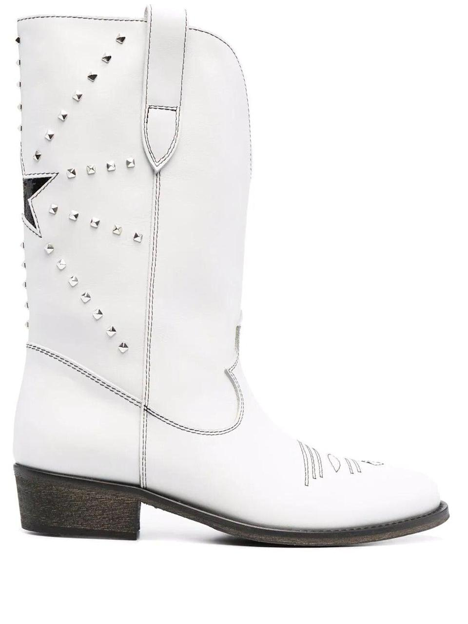 """<br><br><strong>Via Roma 15</strong> Star-Embroidered Cowboy Boots, $, available at <a href=""""https://www.farfetch.com/uk/shopping/women/via-roma-15-star-embroidered-cowboy-boots-item-16845507.aspx?storeid=9026"""" rel=""""nofollow noopener"""" target=""""_blank"""" data-ylk=""""slk:Farfetch"""" class=""""link rapid-noclick-resp"""">Farfetch</a>"""