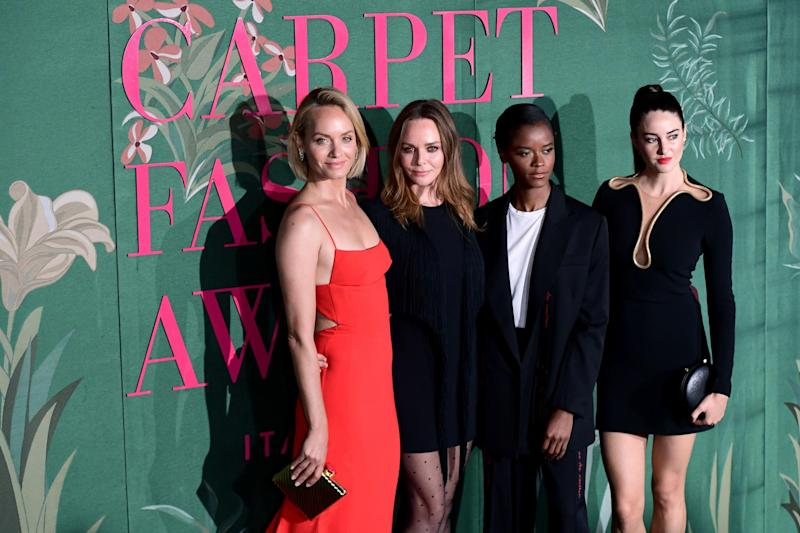 Amber Valletta, Stella McCartney, Letitia Wright and Shailene Woodley (Getty Images)