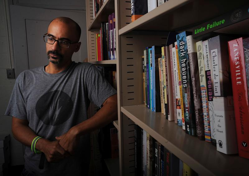 Pulitzer Prize writer Junot Diaz photographed at his MIT office on September 12, 2013. (Photo: Boston Globe via Getty Images)