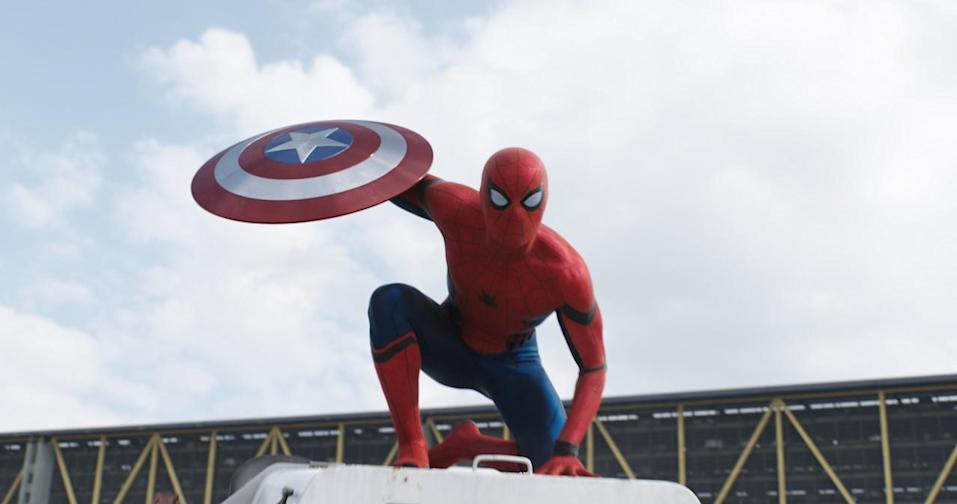 <p>Team Iron Man's secret weapon makes his <i>amazing</i> entrance into the MCU as a wisecracking, starstruck Queens teen recruited by Tony Stark. <i>(Photo: Disney)</i></p>