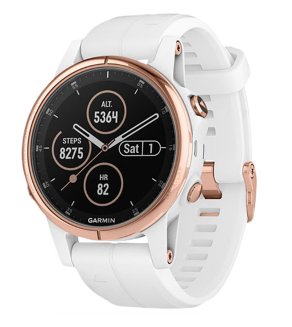 Garmin fenix 5S GPS Watch in Rose Gold/White