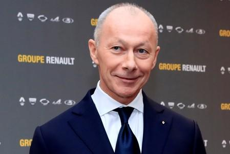 FILE PHOTO: Thierry Bollore, CEO of Renault, attends Renault's 2018 annual results presentation at their headquarters in Boulogne-Billancourt
