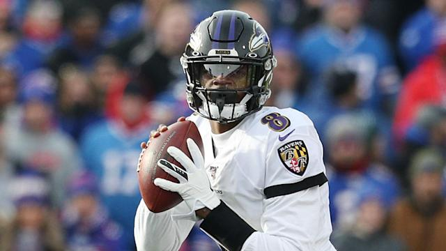 Lamar Jackson was to the fore again as the Baltimore Ravens secured their spot in the NFL postseason by beating the Buffalo Bills.