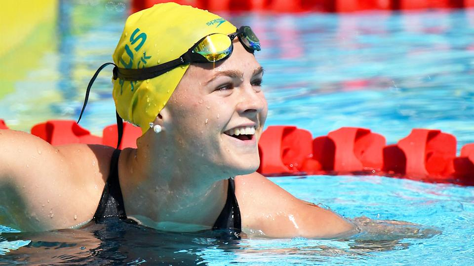 Pictured here, Shayna Jack competing for Australia before she was handed a swimming ban.