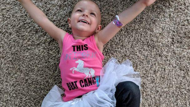 PHOTO: McKenna Shea Xydias, the toddler who captured national attention after she was diagnosed with a rare ovarian cancer, is now cancer-free. (Courtesy the Xydias family)