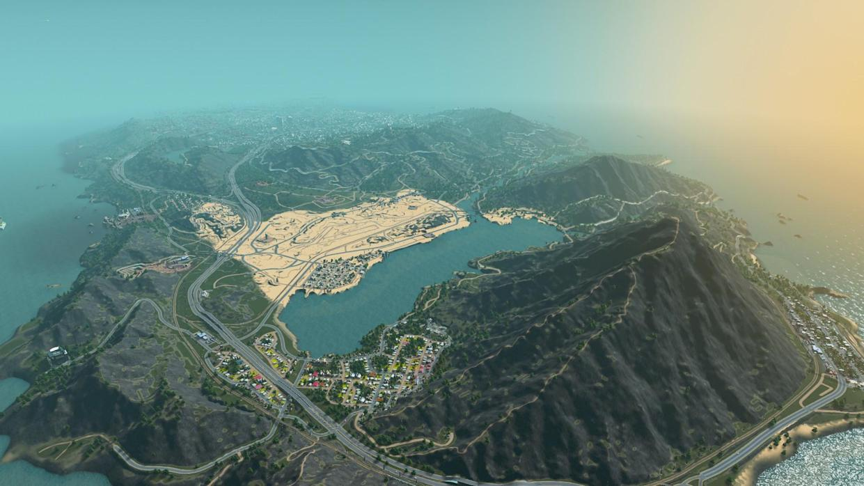 GTA 5 Map Re-Created in Cities: Skylines