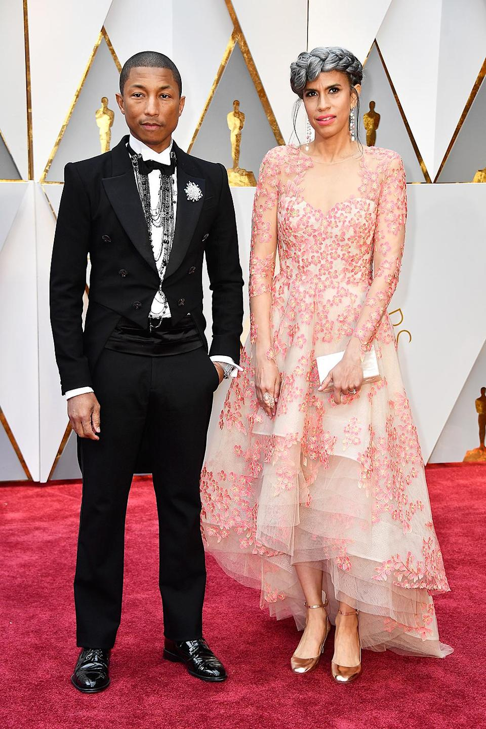 <p>Pharrell Williams and Mimi Valdes attend the 89th Annual Academy Awards at Hollywood & Highland Center on February 26, 2017 in Hollywood, California. (Photo by Frazer Harrison/Getty Images) </p>