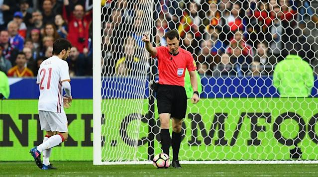 <p>Count Spain as a proponent of Video Assistant Replay (VAR) being used in international soccer. </p><p>Spain was the beneficiary of two calls overturned by VAR during its 2-0 win over France in a high-profile friendly at the Stade de France in Paris. First, France had a goal ruled out for offside after Antoine Griezmann had headed home what he thought was the opener. Later on, Spain substitute Gerard Deulofeu had his disallowed goal given, when the initial offside ruling was overturned.</p><p>France looked like it would take an early lead, but Gerard Pique rescued Spain with an acrobatic clearance off the goal line after Laurent Koscielny's header appeared bound for the back of the net in the 11th minute.</p><p>Two minutes later, Iniesta cut through the France defense and curled a chance just wide of the far post.</p><p>Iniesta was at it again in the 27th minute, gifted a chance in the final third only to be denied by a strong Hugo Lloris save.</p><p>Video replay was called into action in the 48th minute, when Antoine Griezmann appeared to have given France the lead. A quick intervention by VAR ruled that France's Layvin Kurzawa was offside before setting Griezmann up with a header, though, keeping the game scoreless.</p><p>Spain went ahead nearly 20 minutes later from the penalty spot. David Silva converted after Deulofeu was taken down by Koscielny, moments after the AC Milan midfielder subbed into the game. The goal was Silva's 30th of his international career.</p><p>VAR came back into play in the 77th minute, helping extend Spain's lead to 2-0. After Sergio Busquets's back-heel flick sent Jordi Alba down the left channel, the Barcelona left back crossed for Deulofeu, who one-timed home. The initial call was that Deulofeu was offside, but a quick replay reversed the referee's decision and granted Spain the goal.</p><p>The win keeps Spain unbeaten in eight straight, while France's seven-match unbeaten streak came to an end. Both are atop their World Cup qualifyi