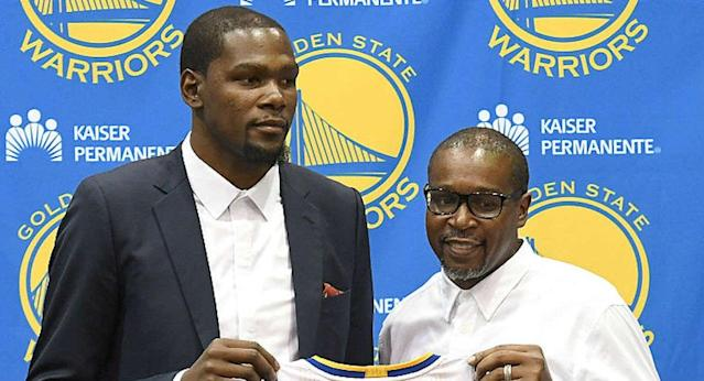 The one-time absentee dad thanks Durant for his forgiveness.