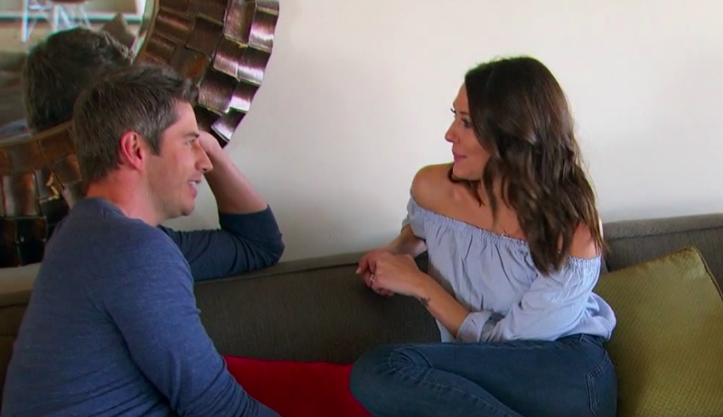 Arie and Becca, moments before their breakup.