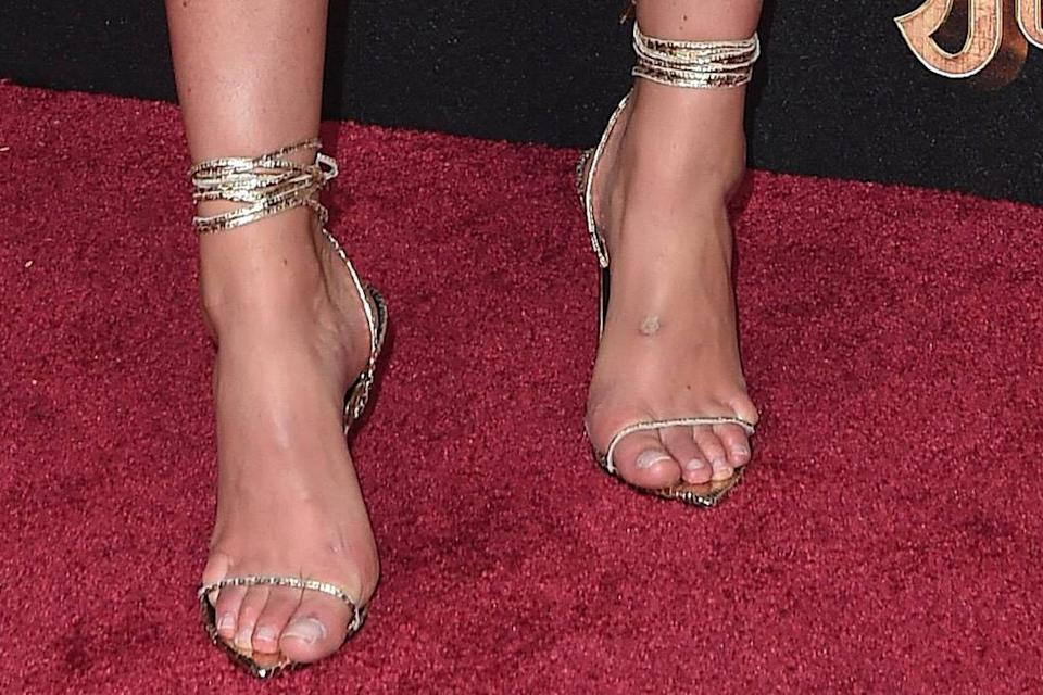 A closer view of Lindsey Vonn's heels. - Credit: AXELLE/BAUER-GRIFFIN/MEGA
