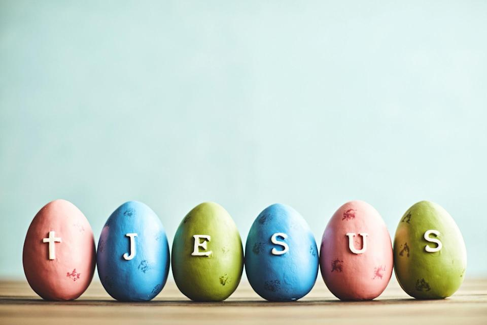 """<p>There's no doubt about it. The <a href=""""https://www.countryliving.com/life/inspirational-stories/a26430267/how-is-easter-date-determined/"""" rel=""""nofollow noopener"""" target=""""_blank"""" data-ylk=""""slk:Easter"""" class=""""link rapid-noclick-resp"""">Easter </a>season is one of the busiest times of the year. There are <a href=""""https://www.countryliving.com/diy-crafts/a42326/dyeing-easter-eggs/"""" rel=""""nofollow noopener"""" target=""""_blank"""" data-ylk=""""slk:eggs to dye"""" class=""""link rapid-noclick-resp"""">eggs to dye</a>, that big <a href=""""https://www.countryliving.com/food-drinks/g738/easter-dinner-recipes/"""" rel=""""nofollow noopener"""" target=""""_blank"""" data-ylk=""""slk:holiday dinner"""" class=""""link rapid-noclick-resp"""">holiday dinner</a> to cook and even <a href=""""https://www.countryliving.com/diy-crafts/g26498744/easter-tree/"""" rel=""""nofollow noopener"""" target=""""_blank"""" data-ylk=""""slk:Easter trees"""" class=""""link rapid-noclick-resp"""">Easter trees</a> to decorate. But this year, in between the egg hunts and putting together Easter baskets filled with chocolate bunnies and other goodies, why not consider the real meaning behind the season, with religious Easter craft ideas? After all, for those of the Christian faith there is no more joyous occasion than the day when Jesus rose from the tomb. And with these beautiful craft ideas you can celebrate the resurrection and engage in fun, meaningful activities with your kids at the same time.</p><p>The idea is that as you work on each project, you talk about your <a href=""""https://www.countryliving.com/life/a30705567/easter-bible-verses/"""" rel=""""nofollow noopener"""" target=""""_blank"""" data-ylk=""""slk:faith"""" class=""""link rapid-noclick-resp"""">faith</a>, and the significance behind Holy symbols, like the cross. We've found beautiful ones you and your littles can DIY, including crosses made of paint and one even created from coins. There are also several <a href=""""https://www.countryliving.com/diy-crafts/how-to/g1111/easter-crafts/"""" rel=""""nofollow noopener"""" target=""""_blank"""" data-ylk=""""slk:cr"""