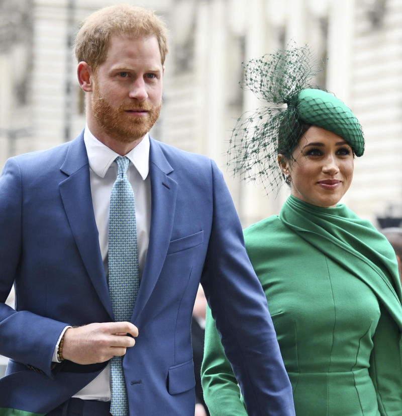 Prince Harry The Duke of Sussex and Meghan The Duchess of Sussex attend the Commonwealth Day Service on March 9, 2020 at Westminster Abbey.