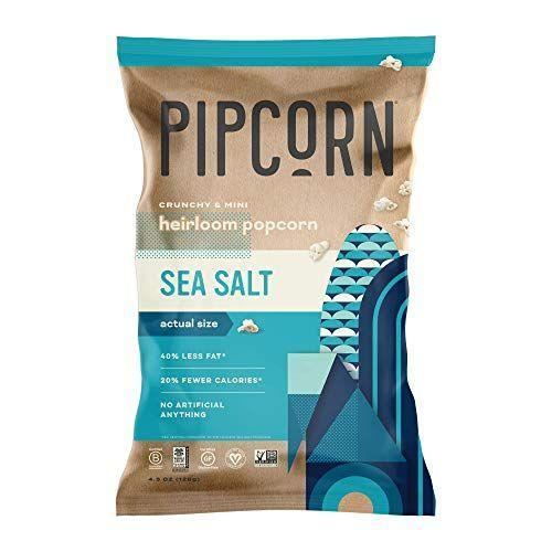 """<p><strong>Pipcorn</strong></p><p>amazon.com</p><p><a href=""""https://www.amazon.com/dp/B072N5LHD9?tag=syn-yahoo-20&ascsubtag=%5Bartid%7C1782.g.4497%5Bsrc%7Cyahoo-us"""" rel=""""nofollow noopener"""" target=""""_blank"""" data-ylk=""""slk:Shop Now"""" class=""""link rapid-noclick-resp"""">Shop Now</a></p><p>This snack has 40 percent less fat and 20 percent fewer calories per serving compared to the leading salty popcorn, but it's still packed with flavor. </p>"""
