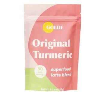 """Get this<a href=""""https://fave.co/3e7ej1s"""" target=""""_blank"""" rel=""""noopener noreferrer""""> Golde Original Turmeric Latte Blend for skin glow + debloat on sale</a> (normally $29) during Sephora's Holiday Savings Eventwith code<strong>HOLIDAYFUN</strong>at checkout."""