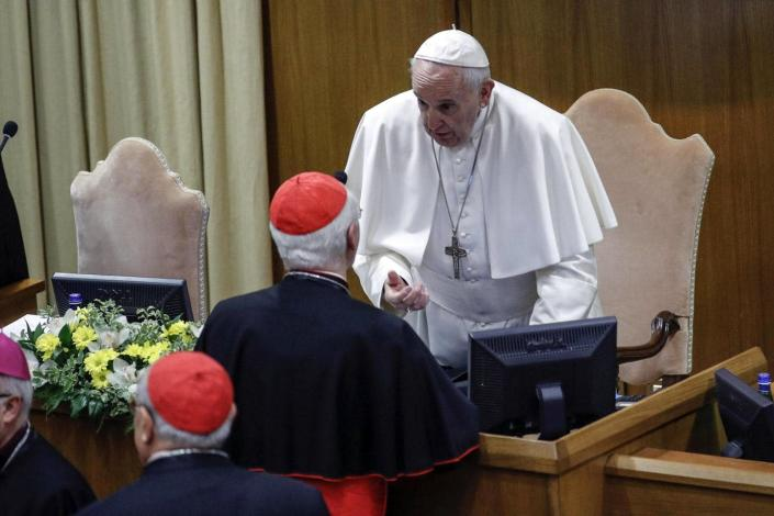 """<span class=""""caption"""">The pope can order religious investigations that can allow the Vatican to swiftly take action.</span> <span class=""""attribution""""><a class=""""link rapid-noclick-resp"""" href=""""http://www.apimages.com/metadata/Index/Vatican-Sex-Abuse/56498a2171b146c09c65e068a717af43/154/0"""" rel=""""nofollow noopener"""" target=""""_blank"""" data-ylk=""""slk:Giuseppe Lami/Pool Photo via AP"""">Giuseppe Lami/Pool Photo via AP</a></span>"""