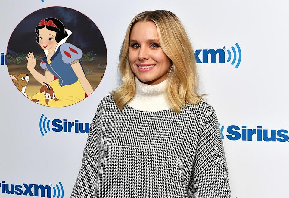 Kristen Bell enjoys reading the classic book<em> Snow White and the Seven Dwarfs </em>to her daughters, but she makes sure to discuss the storyline with them after, calling out parts she finds misogynistic. (Photos: Getty Images/Everett Collection)
