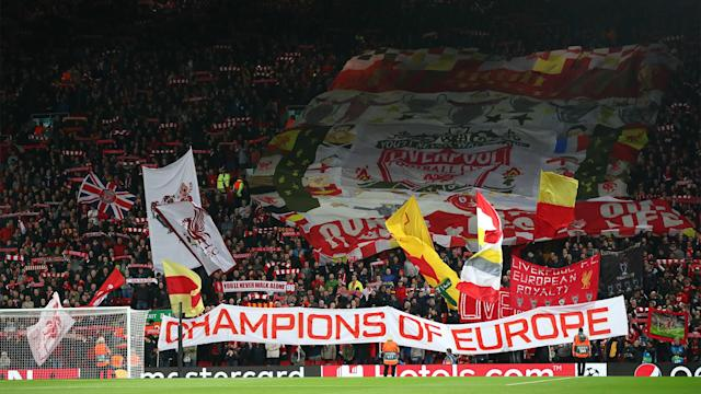 Liverpool fans Anfield 2019