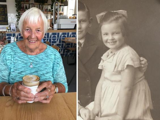 Jean Corne now and as a child