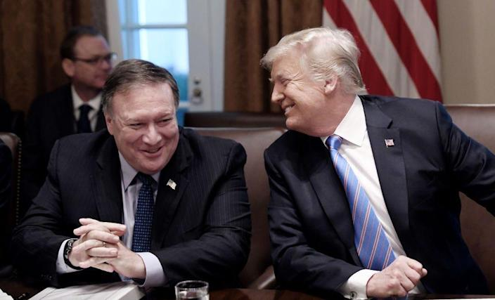 Mike Pompeo and Donald Trump