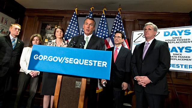 Boehner and Pelosi Clash Over New Taxes to Offset Sequester