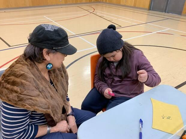 Kathy Paul-Drover was one of the elders invited to teach students as part of a beading workshop hosted by the RCMP.