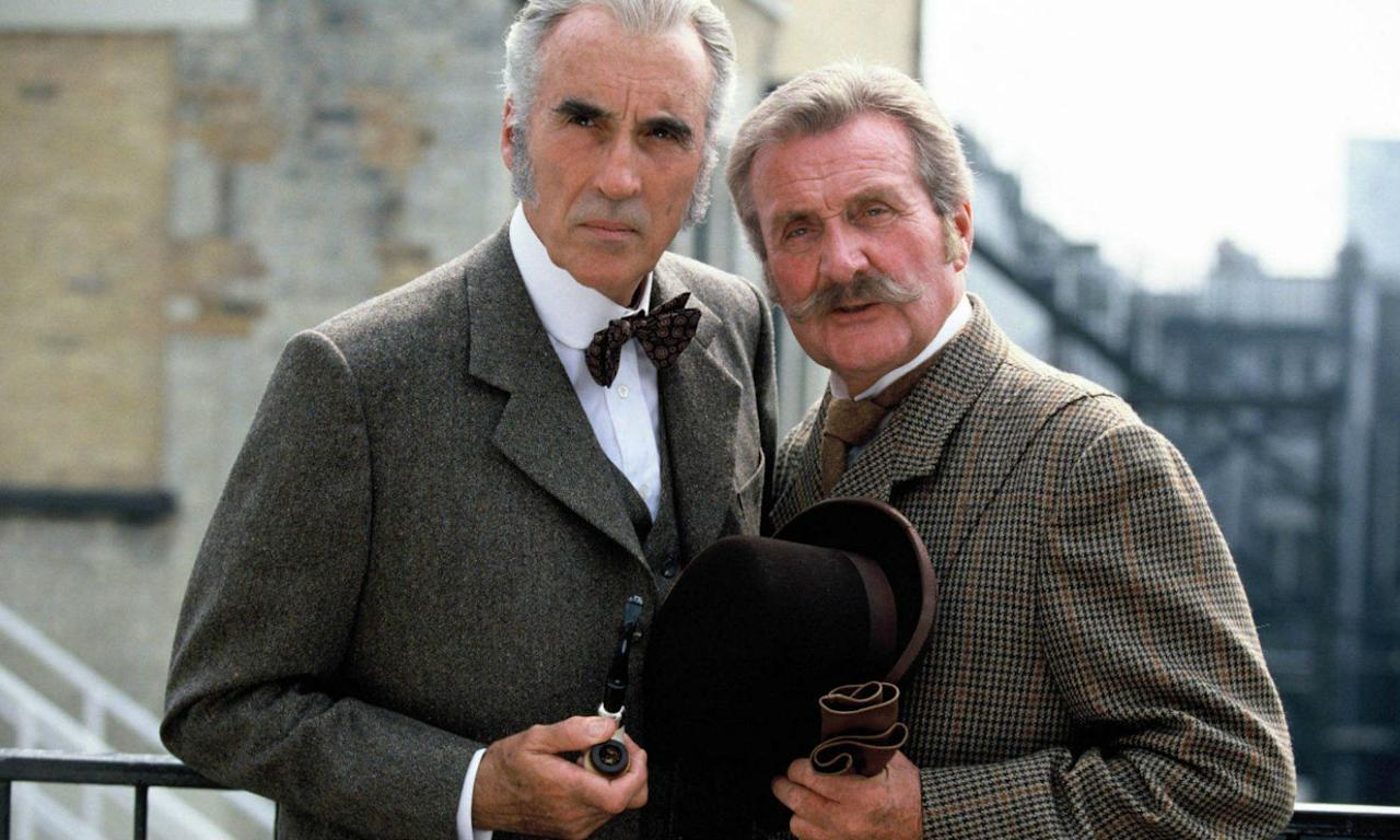 <p><span>Lee played Sir Henry Baskerville opposite Cushing's Sherlock before getting to do the job himself in 1962's <em>Sherlock Holmes and the Deadly Necklace</em> as well as TV movies S<em>herlock Holmes and the Leading Lady</em> (1991) and <em>Incident at Victoria Falls</em> (1992).</span> </p>