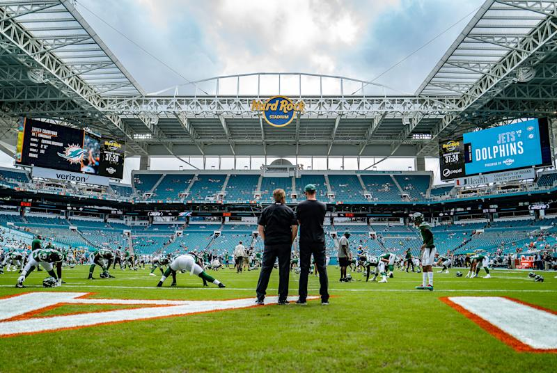 Jets defensive coordinator Gregg Williams and head coach Adam Gase appear to have brewing tension. (Photo by Mark Brown/Getty Images)