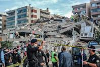 Izmir's mayor said 20 buildings had collapsed in the Aegean city