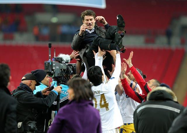Michael Laudrup won the League Cup in his first season as Swansea boss