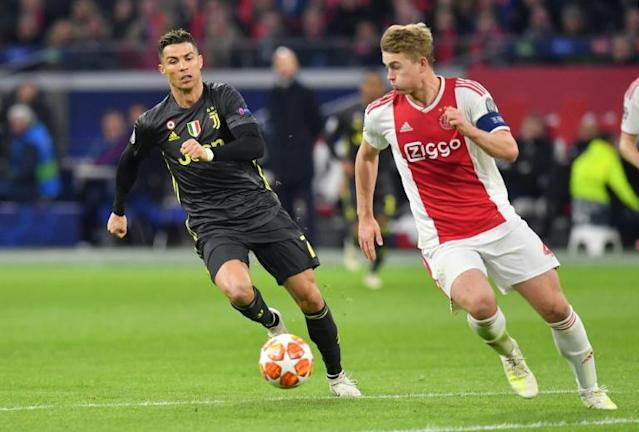 Matthijs de Ligt has joined Cristiano Ronaldo at Juventus after knocking him out of the Champions League last season (AFP Photo/EMMANUEL DUNAND)