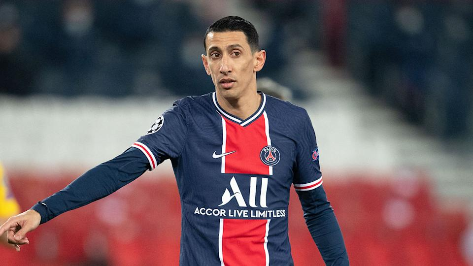 Pictured here, Angel di Maria in action for French champions PSG.