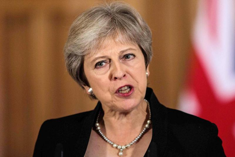 Theresa May has ruled out the idea of extending the Article 50 negotiating period (AFP/Getty Images)