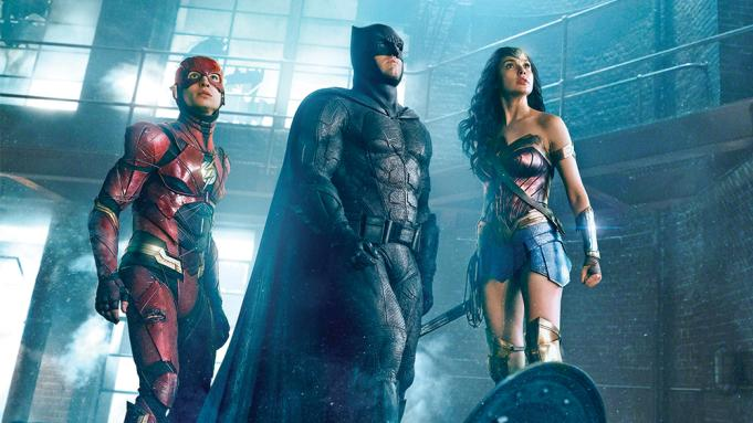 Ezra Miller, Ben Affleck and Gal Gadot in 'Zack Snyder's Justice League'