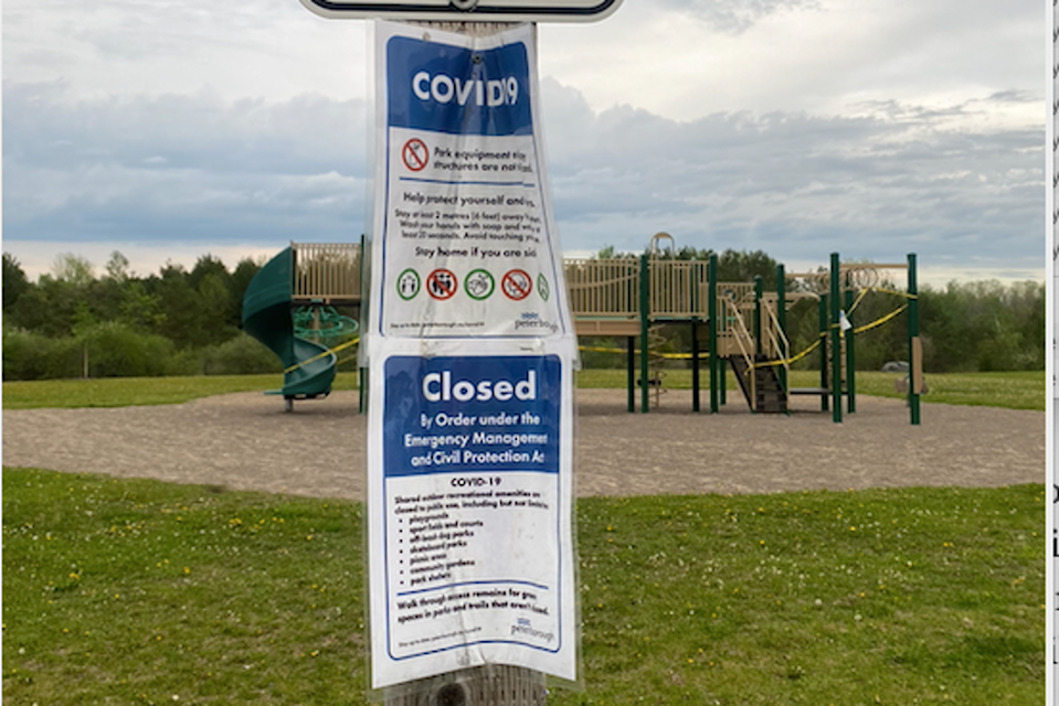COVID-19 playground signs